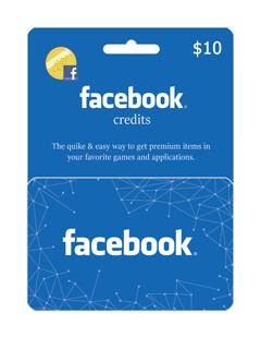گیفت کارت فیسبوک 10 دلاری