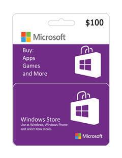 گیفت کارت مایکروسافت و ایکس باکس 100 دلاری