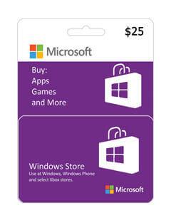 گیفت کارت مایکروسافت و ایکس باکس 25 دلاری