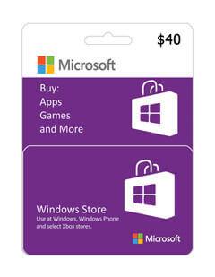 گیفت کارت مایکروسافت و ایکس باکس 40 دلاری