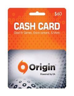 origin giftcard 60$