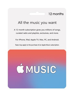 apple music giftcard