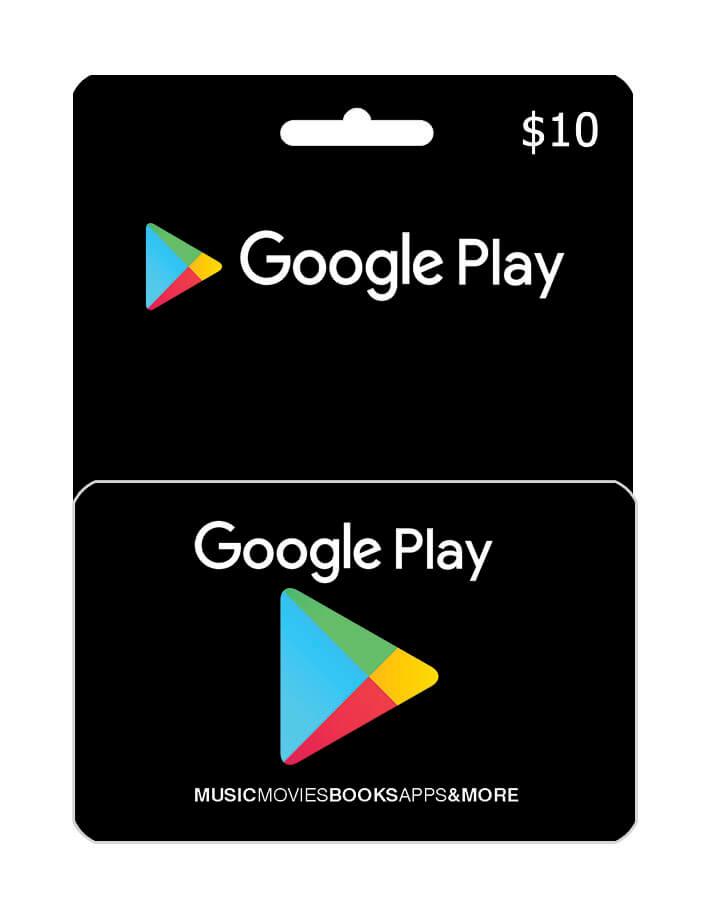 گیفت 10 دلاری گوگل پلی