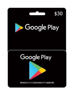 گیفت کارت 30 دلاری گوگل پلی