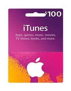 itunes ۱۰0$ giftcard
