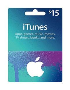 itunes 15$ giftcard