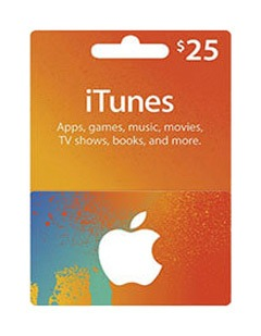 گیفت کارت آیتونز 25 دلاری