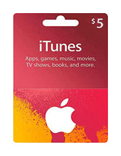 itunes 5$ giftcard
