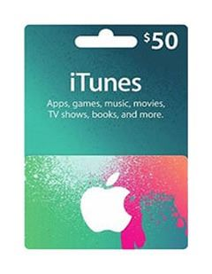 itunes ۵0$ giftcard