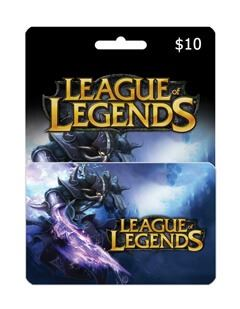 League Of Legends giftcard 10$