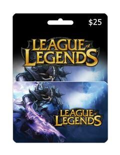 League Of Legends giftcard 25$