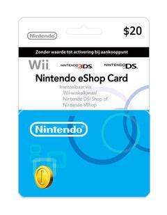 nintendo giftcard 20$