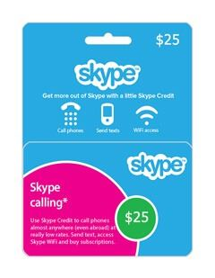 گیفت کارت اسکایپ 25 دلاری