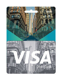 Visa card us 100$