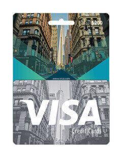 گیفت کارت ویزا کارت 200 دلاری