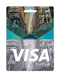 Visa card us 25$